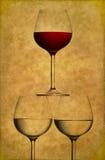 szkła wino trzy Obrazy Royalty Free