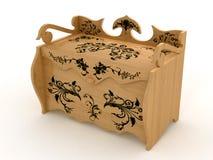 szkatuła drewniana Fotografia Royalty Free