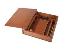 szkatuły notatnika pióra Zdjęcie Stock