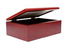 szkatuły drewniany odosobniony Zdjęcie Stock