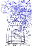 Szkicowi doodles: Wolność! Fotografia Royalty Free