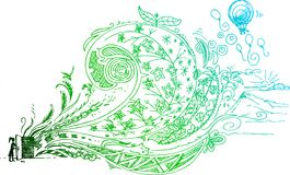 Szkicowy doodle otwarte drzwi Zdjęcia Royalty Free