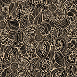Szkicowych doodles dekoracyjny kwiecisty ornamentacyjny Zdjęcia Stock
