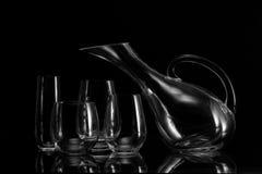 szkieł życia miotacza spokojny wino Zdjęcia Royalty Free