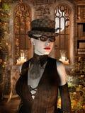 szkieł kapeluszu kobieta Zdjęcie Stock