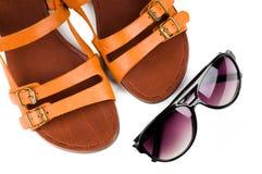szkieł sandałów słońca kobiety Fotografia Stock