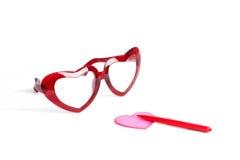 szkieł czerwieni valentine Obrazy Stock