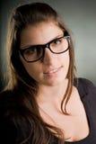 szkieł portreta kobieta Zdjęcie Royalty Free