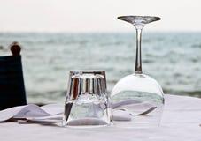 szkieł wody wino Fotografia Stock