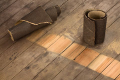 Szklak na drewnie Zdjęcia Stock