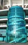 Szklana ściana dla schodków zdjęcia stock