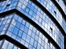 Szklana budynek powierzchowność fotografia stock
