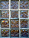 Szklana cegła obraz stock
