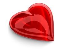 szklana czerwony serca Zdjęcia Stock