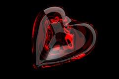szklana czerwony serca Obrazy Royalty Free