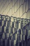 Szklana fasada z odbiciem Abstrakcjonistyczny budynek Fotografia Stock