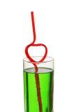 szklana kierowa słoma Zdjęcie Stock