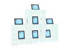 szklana komputeru osobisty gabloty wystawowej pastylka Obraz Royalty Free