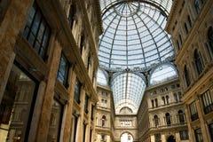 Szklana kopuła Galleria Vittorio Emanuele II w Mediolan, Włochy Obrazy Royalty Free