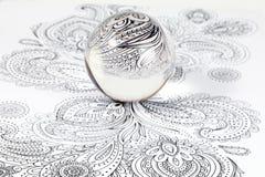 Szklana kryształowa kula Obraz Stock