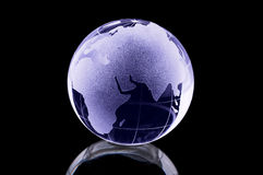 szklana kula ziemska Obrazy Stock