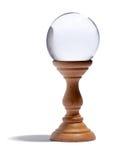 Szklana kula ziemska dla fortunetelling fotografia royalty free