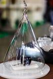 Szklana kula ziemska save naczynia z niezwykłymi kształtami Ja jest po Obraz Stock