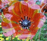 Szklana kwiat rzeźba Zdjęcie Stock