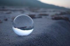 Szklana lense piłka zdjęcie royalty free