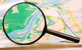 szklana mapa Zdjęcie Stock