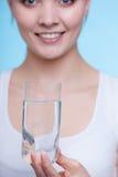 szklana mienia wody kobieta Obrazy Stock