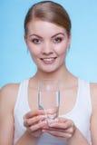 szklana mienia wody kobieta Zdjęcia Royalty Free