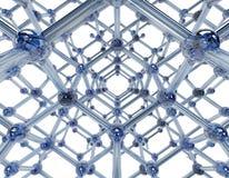 Szklana molekuła Zdjęcia Royalty Free