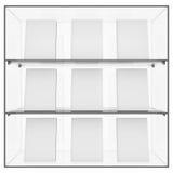 Szklana półka z książkami Zdjęcie Stock