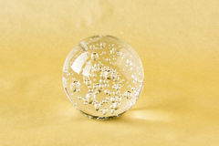 Szklana piłka z wewnętrznymi bąblami Fotografia Royalty Free