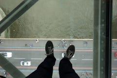 Szklana podłoga w Basztowym moscie Zdjęcie Royalty Free