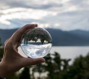 Szklana sfera w Norway Zdjęcie Royalty Free