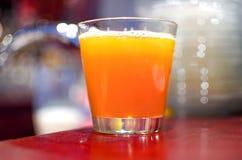 szklana sok pomarańczowy Fotografia Stock