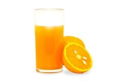 szklana sok pomarańczowy Zdjęcia Stock
