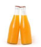 Szklana sok pomarańczowy butelka Zdjęcie Stock
