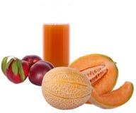szklana soku melonu brzoskwinia Obraz Stock