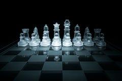 Szklana szachowa deska Zdjęcia Stock