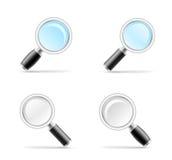 szklana tła ilustracja występować samodzielnie w white wektor Obraz Stock