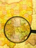 szklana target552_0_ mapa Fotografia Stock