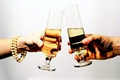 szklana toast romantycznej narzekać Zdjęcie Stock