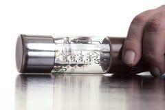 szklana topikowa duże ręce Fotografia Stock