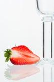 szklana truskawka zdjęcie royalty free