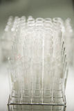 Szklana tubka w lab Zdjęcie Stock