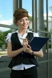 szklana wewnętrzna nowożytna kobieta zdjęcia stock