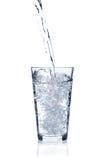 szklana wylewać wodę Obraz Royalty Free
